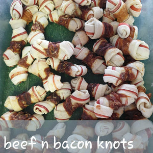 Beef & Bacon Knots