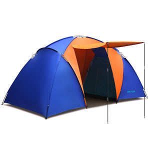 New ANCHEER Waterproof UV Outdoor Hiking Tents 2 Rooms 4~6 persons Camping Tent Family Tent Pack with Carrying Bag