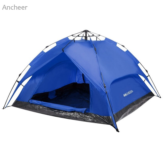 NEW ANCHEER  3-Person Camping Hiking Tent Automatic Instant Setup Dome Tent Dual Layer with Shelter with carrying bag