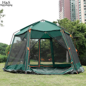 NEW ANCHEER New camping tent 3000mm Waterproof 8-Person Automatic Instant Tent Outdoor Green Camping