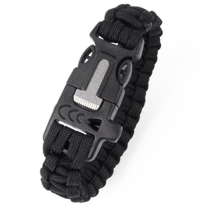 New Paracord Bracelet Outdoor Survival Whistle Lifesaving Braided Rope Tactical Wrist Band