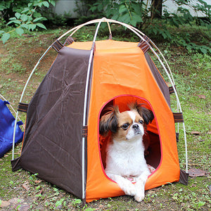 Portable Folding Pet Dogs Cats Bed House Outdoor Tent