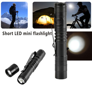 Super Bright Durable Flashlight 20lm 1W LED Black for Camping And Hiking