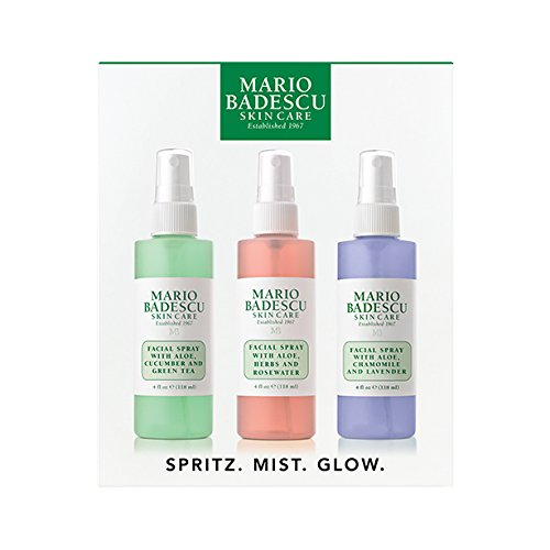 Mario Badescu Facial Spray Lavender Cucumber Rose Trio 4 Oz