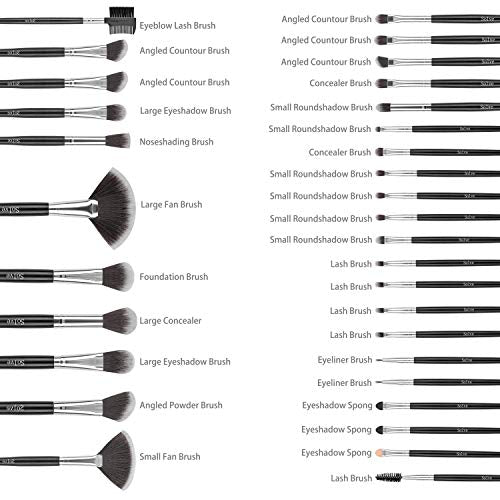 32 Piece Full Face Makeup Brush Set - Lady Essentials