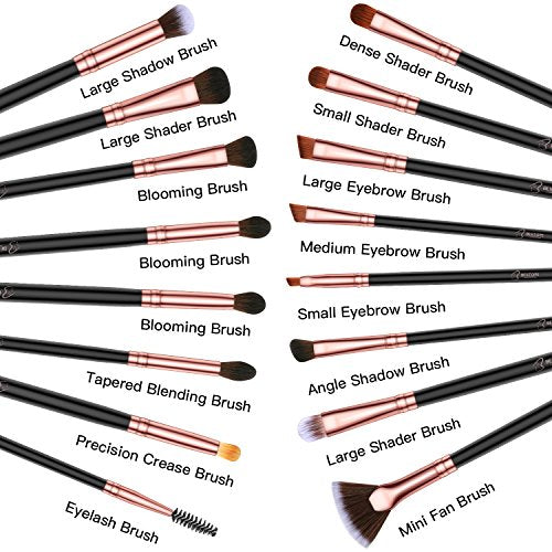 16 Piece Eye Makeup Brush Set - Lady Essentials