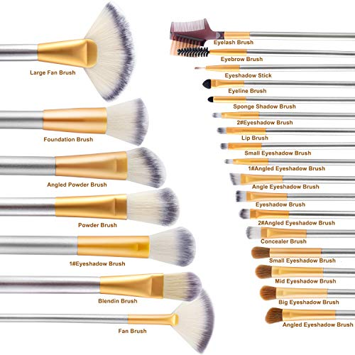 24 Piece Premium Cosmetic Makeup Brush Set - Lady Essentials