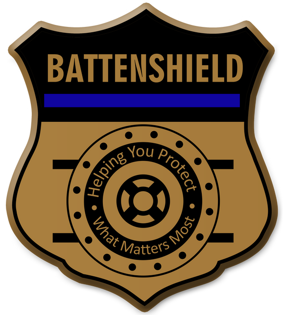 BATTENSHIELD Logo Window Sticker
