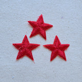 Small Red Star Iron-On Patch