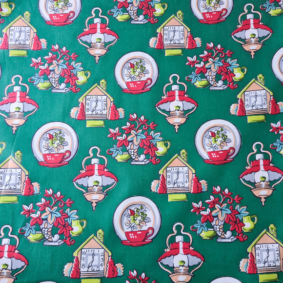 Green Cottage Chintz | Vintage Fabric