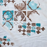 """Fretwork"" Turquoise/Mocha Home Dec 