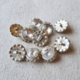 Vintage Diamante Button #2 - Metal