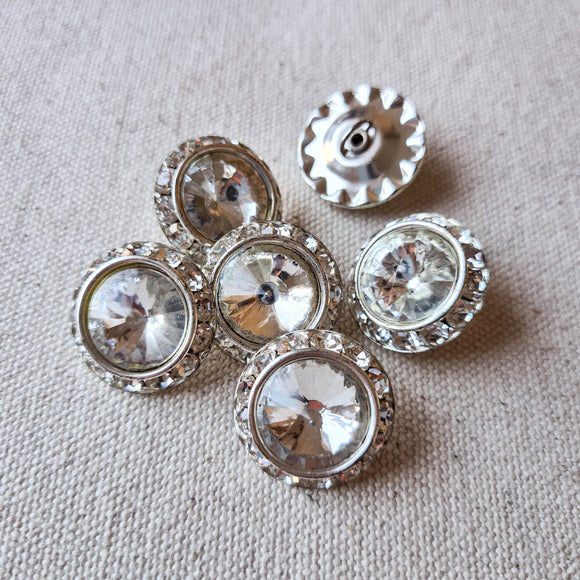 Vintage Diamante Button #3 - Metal