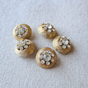 Vintage Diamante Button #4 - Metal