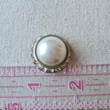 Vintage Diamante Button #8 - Metal