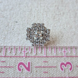 Vintage Diamante Button #17 - Metal