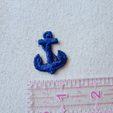 Small Blue Anchor Sew-On Patch