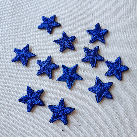 XS Blue Star Iron-On Patch