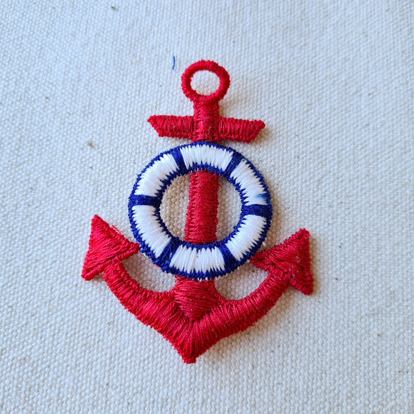 Large Red Anchor Sew-On Patch