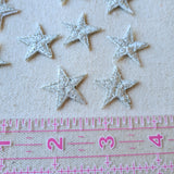 XS Metallic Silver Star Iron-On Patch