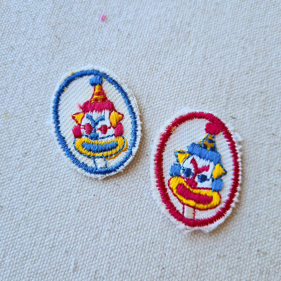 Clown Face Iron-On Patch