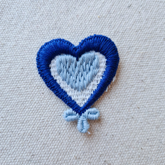 Blue Heart Sew-On Patch