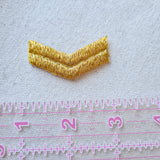 Metallic Gold Chevron Sew-On Patch