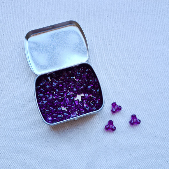 Purple Cluster Beads - 56 Count