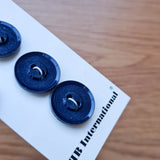 "3/4"" Textured Navy Border Buttons  - JHB - Made in Italy"