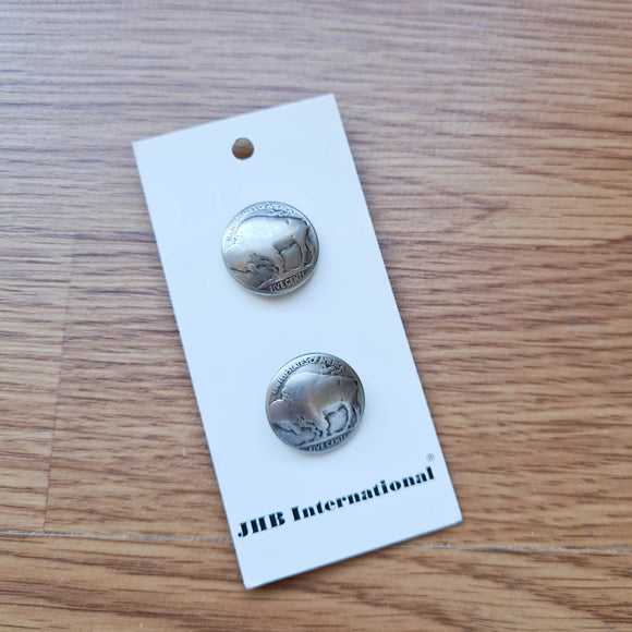 Buffalo Nickel  - JHB Buttons - Made in Germany