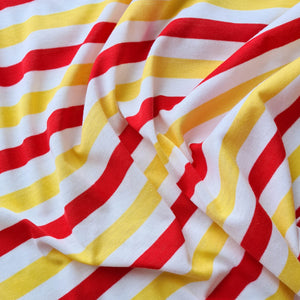 Yellow + Red Stripe Knit
