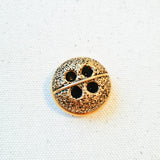 Vintage Gold Textured Bubble Button - 1 1/8""
