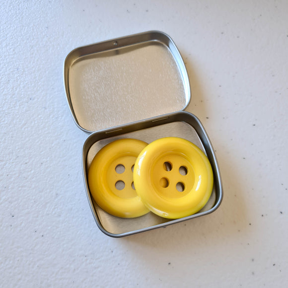 Chunky Buttons | Yellow | Set of 2