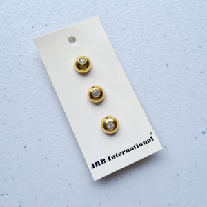 "1/2"" Gold Diamante Buttons 