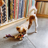 Upcycled Fabric Rope Dog Toy