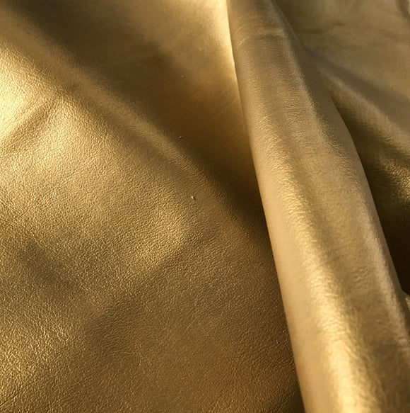 Brushed Metallic Gold Leather