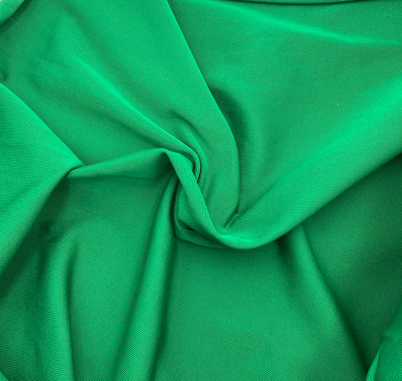 Ribbed Double Knit Polyester | Shamrock Green