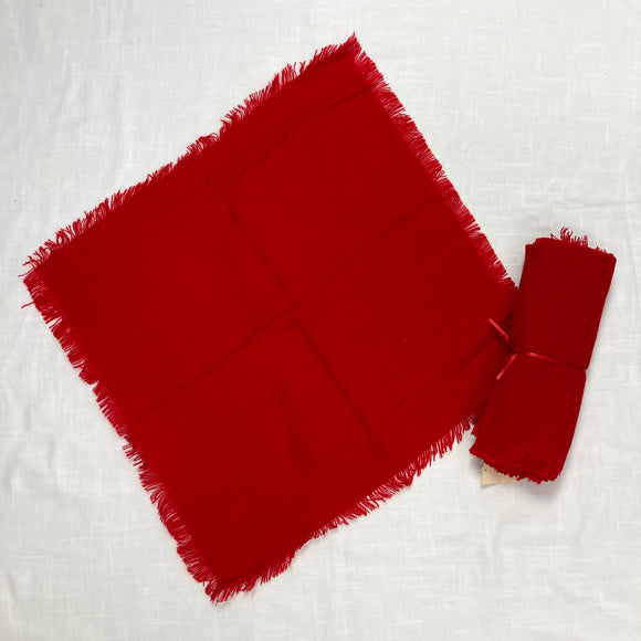 Red Christmas Napkins Set of 4