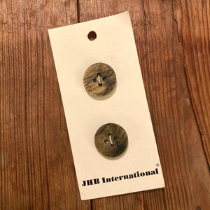 "3/4"" Moss Grooved Buttons - JHB - Made in France"
