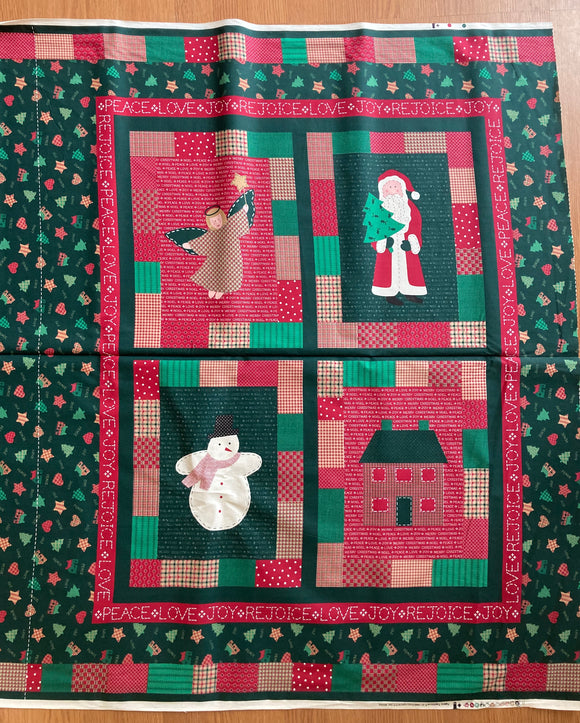 Red + Green Christmas Panel