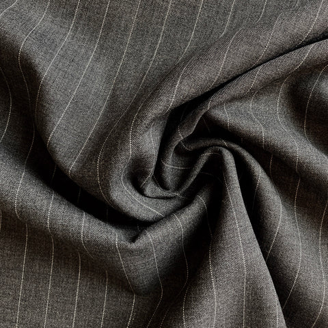 Italian Gray Pinstripe Suiting