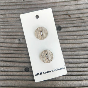 "3/4"" Muted Gold Textured Buttons - JHB"
