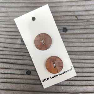 "7/8"" Checkered Wood Buttons - JHB"