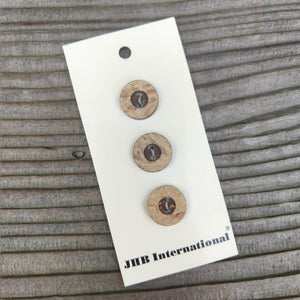"5/8"" Greyish Coconut JHB Buttons - Made in Thailand"