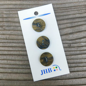 "3/4"" Shiny Olive Marble Button - JHB - Made in Italy"