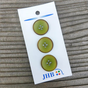 "3/4"" Chartreuse Corozo Buttons - JHB - Made in Portugal"