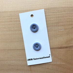 "5/8"" Dusty Blue Corozo Buttons - JHB - Made in Italy"