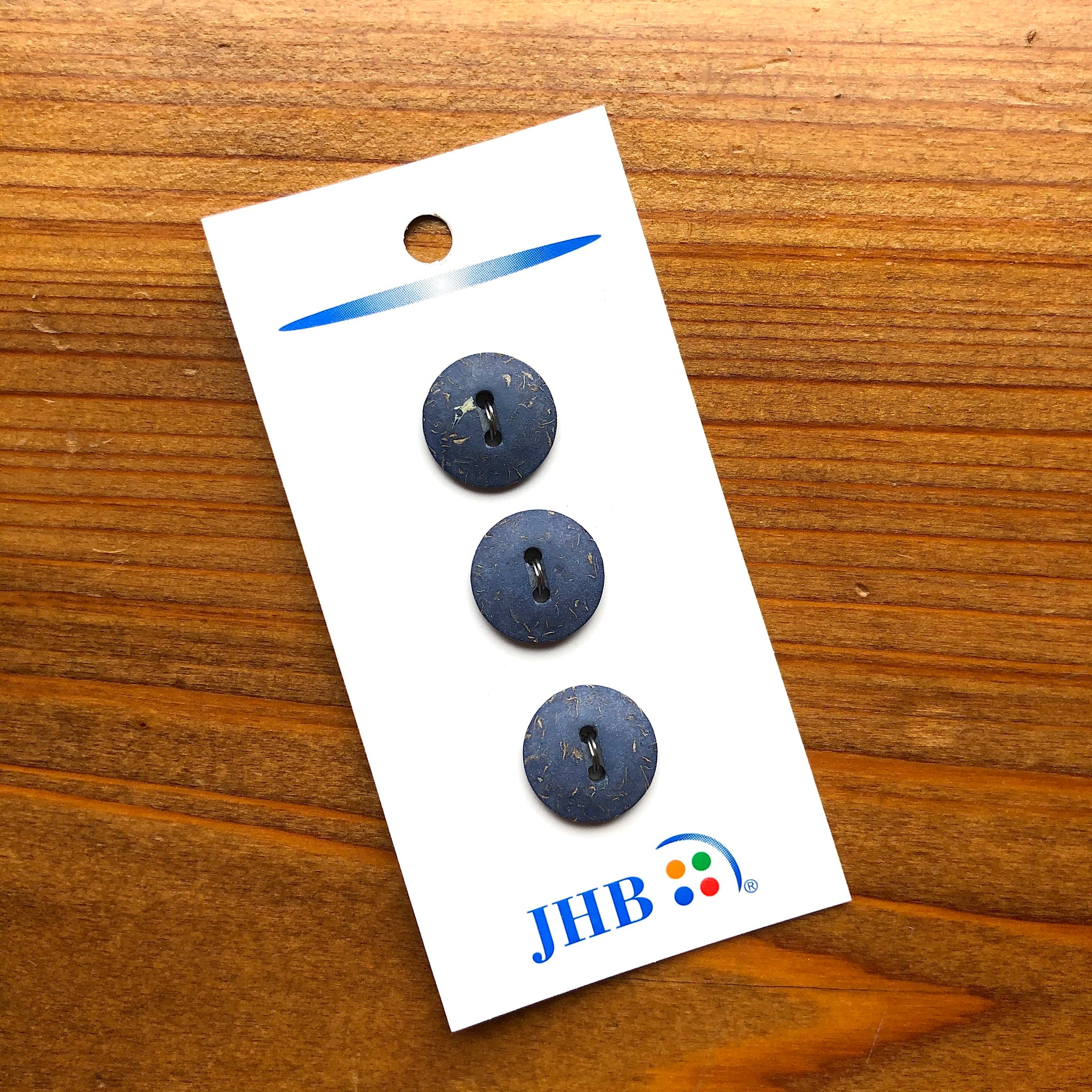 "5/8"" Lapis Blue Buttons - JHB - Made in France"