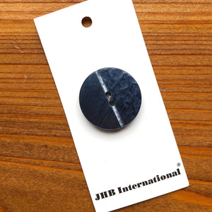 "1 1/8"" Slate Blue Groove Button - JHB - Made in Spain"