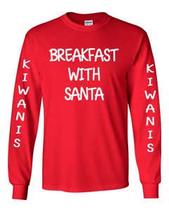 Kiwanis - 2019 Breakfast with Santa Long Sleeve Regular T-shirt